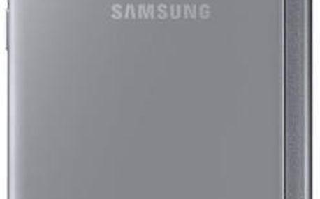 Samsung pouzdro Clear View pro Galaxy S6 Edge, stříbrné