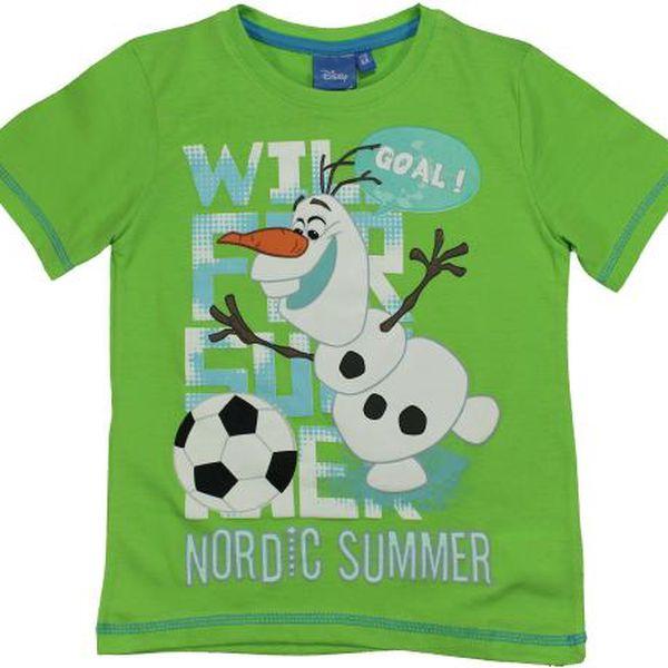 E plus M Chlapecké tričko Frozen - zelené, 122 cm