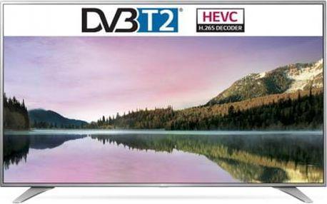 Televize LG 55UH6507 stříbrná/chrom