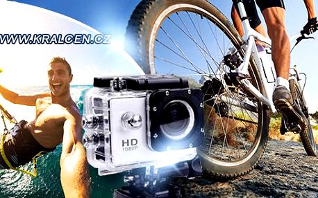 Kamera na sport GoCam HD-DV 5-30-A8, širokoúhlá 120°, vodotěsná do 30m, 5 Mpx rozlišení
