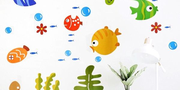 Barevné rybičky 44 x 25 cm