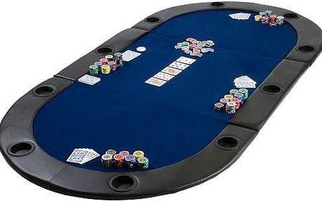 Poker podložka skládací modrá