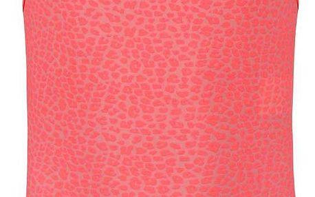 Neonové jednodílné holčičí plavky se vzorem name it Zujungle