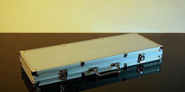 Garthen 493 Hliníkový kufr na 500 žetonů s příslušenstvím2