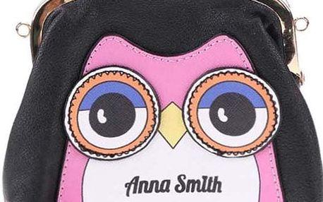 Černá peněženka s motivem sovy Anna Smith