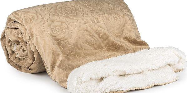 4Home beránková souprava Luxury béžová, 140 x 200 cm, 70 x 90 cm, 90 x 200 cm4
