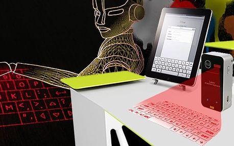 Hi-tech laserová virtuálna klávesnica