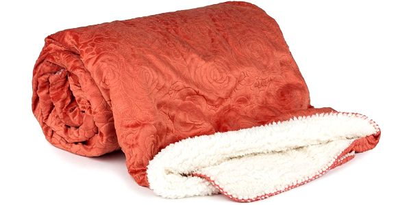 4Home beránková souprava Luxury oranžová, 140 x 200 cm, 70 x 90 cm, 90 x 200 cm3