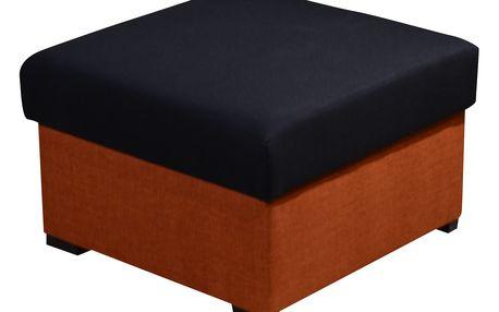 Taburet MORY KORNER, černá/oranžová