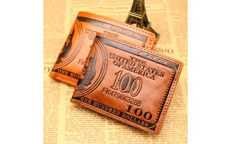 Pánská peněženka - 100 dolarů - dodání do 2 dnů