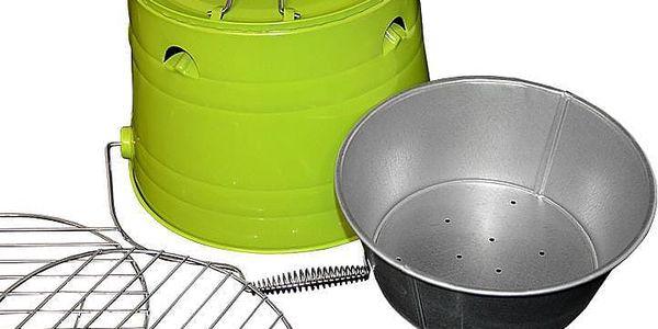 Garthen 27146 Mini BBQ gril vědro zelený2