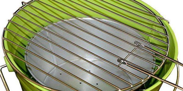 Garthen 27146 Mini BBQ gril vědro zelený3