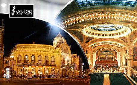 Koncert ve Smetanově síni - Obecní dům. Mozart, Smetana, Dvořák v podání BSOP, 3 termíny
