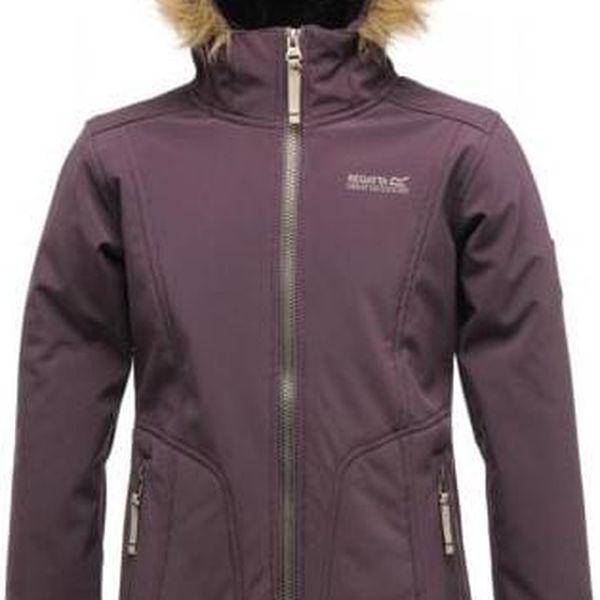 Dívčí kabát Regatta RKL050 WINTERSTAR II PlumWine3