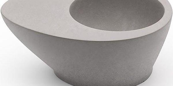 Mensch Made Stojánek na vajíčko Hold On! s magnetem pro uchycení lžičky, šedý2