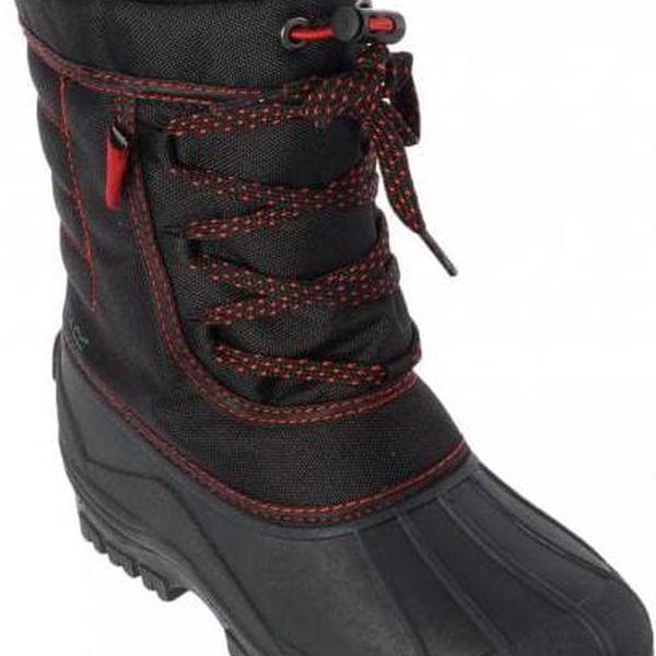 Zimní obuv Regatta RKF388 TREKFORCE II Jnr Black/Chilli 395