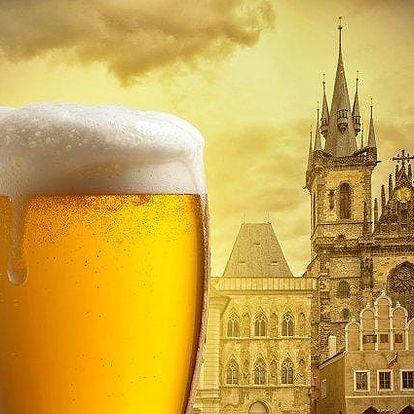 3hodinová pivní procházka Prahou s výkladem a degustací pro 1 nebo 5 osob