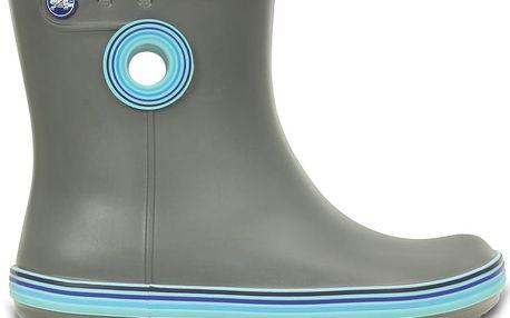 Crocs Women's Jaunt Stripes Shorty Boot Smoke/Cerulean Blue, dostupné velikosti 37-38