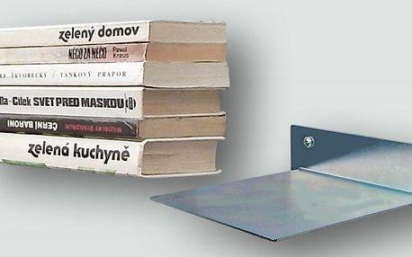 Neviditelná nástěnná polička na knihy