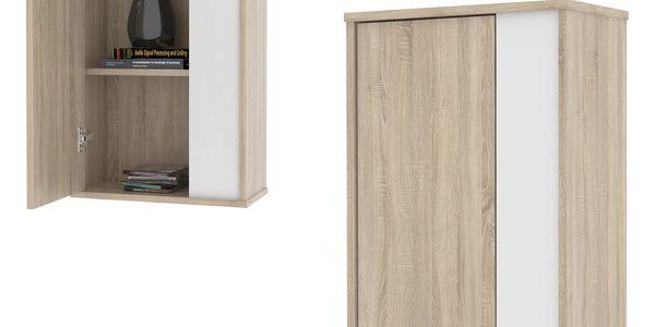 Závěsná skříňka GAEL 12, dub sonoma/bílá2