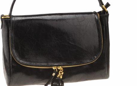 Kožená kabelka Diadema, černá - doprava zdarma!
