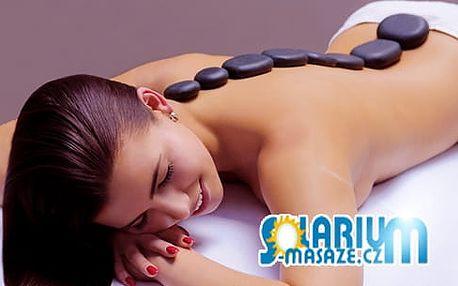 Hřejivá masáž zad lávovými kameny:45min. relaxace a uvolnění v Salonu Beauty v Olomouci!