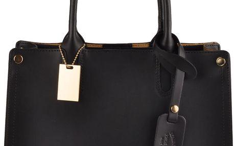 Kožená kabelka Emilio Masi Manor, černá - doprava zdarma!