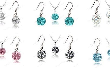 Set šperků Crystal Ball. Stále velmi populární a vyhledávaný šperk zbroušených malých krystalků, který je vhodný jak pro všední nošení tak i na večerní party.