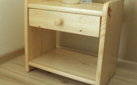 Noční stolek z masivu Ilona - více barevných provedení