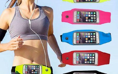 """Sportovní pouzdro na mobilní telefon o velikosti do 5,5"""" Barva: červená"""