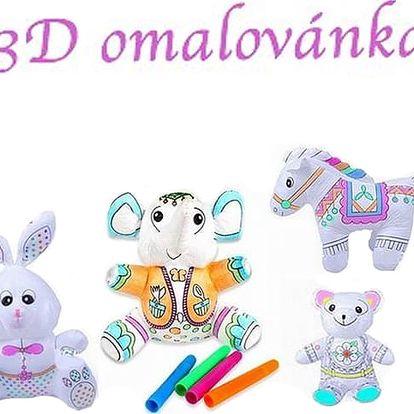 Originální hračka pro malé umělce. Kreslící zvířátka pro děti - sloníček, medvídek, zajíček, koníček