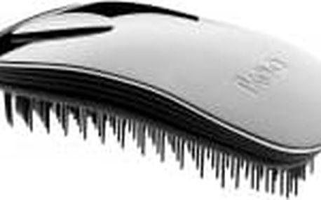 IKOO Home Metallic kartáč na vlasy černo-stříbrná