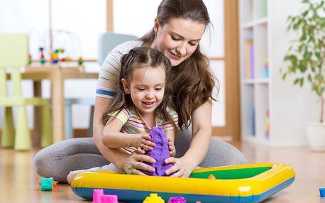 Kinetický písek 1 kg + bábovičky: zábava pro děti i dospělé + možnost osobního odběru