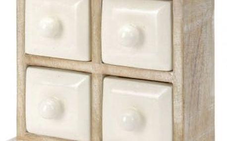 Skříňka 23x9x21 cm, dřevo mango EXCELLENT KO-A44300660