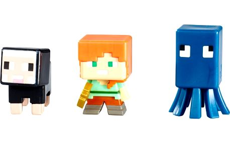 Minecraft 3 ks minifigurka - 3. řada figurek Minecraft sada J