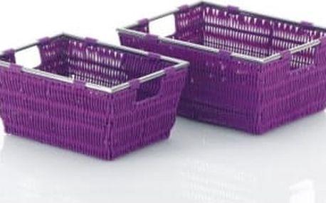 Koš NOBLESSE PP plast, fialový 33x25x10 cm KELA KL-21630