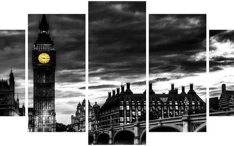 Vícedílný obraz Black&White no. 78, 100x50 cm