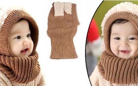 Zimní kukla pro děti Ovečka - Hřejivá pletená kukla dokonale plní funkci čepice i šály a pro děti je mnohem příjemnější na nošení !!