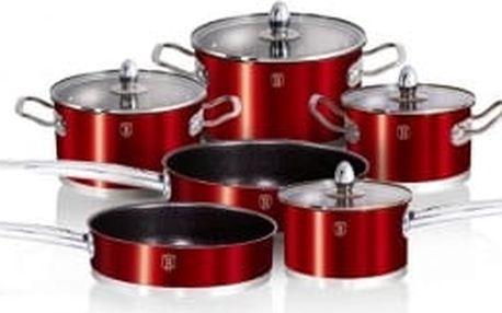 Sada nádobí nerez 10 ks Metallic Red Passion Collection BERLINGERHAUS BH-1321