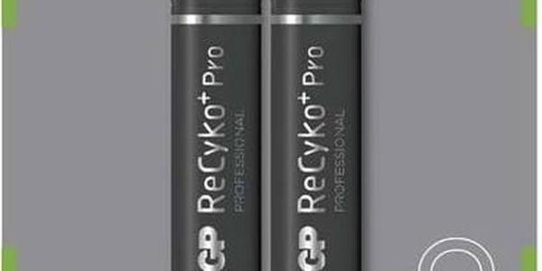 Baterie nabíjecí GP ReCyko+ Pro AA, HR6, 2000mAh, Ni-MH, krabička 2ks (1033212070) černá