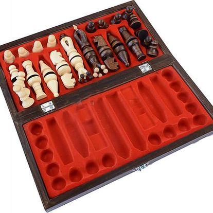 Dřevěné šachy se skládací šachovnicí