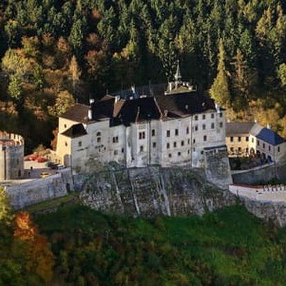 Nezapomenutelný pobyt pro dva s polopenzí v Parkhotelu Český Šternberk