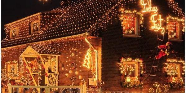 Voltronic 39456 Vánoční LED osvětlení 20 m - teple bílá 200 LED - zelený kabel5