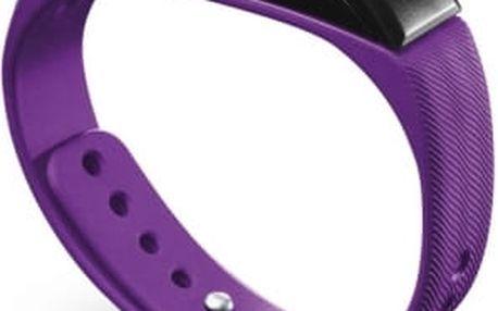 Bluetooth fitness náramek CellularLine EASYFIT - Fialový