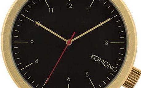 Unisex hodinky ve zlaté barvě s textilním páskem Komono Magnus