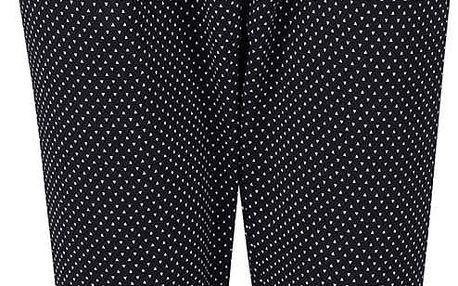 Černé elegantní kalhoty se vzorem Alchymi Castor