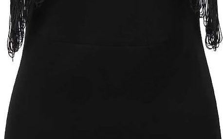 Černé šaty s třásněmi LYDC