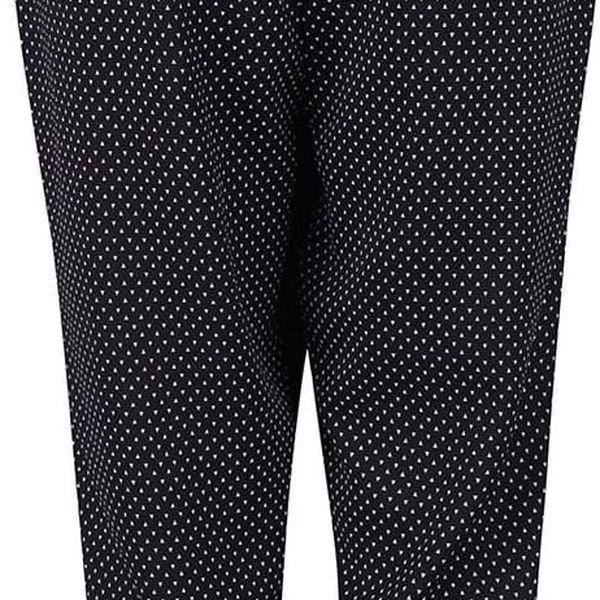 Černé elegantní kalhoty se vzorem Alchymi Castor2