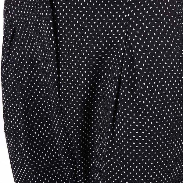 Černé elegantní kalhoty se vzorem Alchymi Castor3
