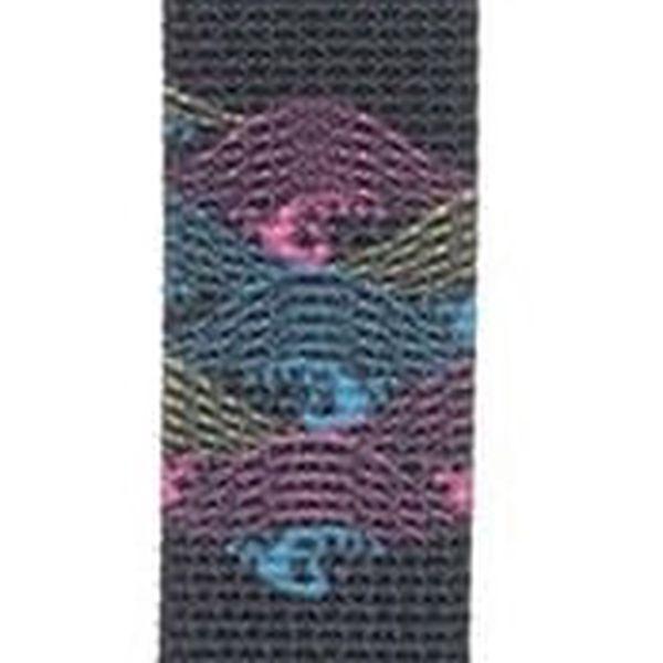 Černé pánské hodinky s textilním vzorovaným páskem HYPERGRAND2